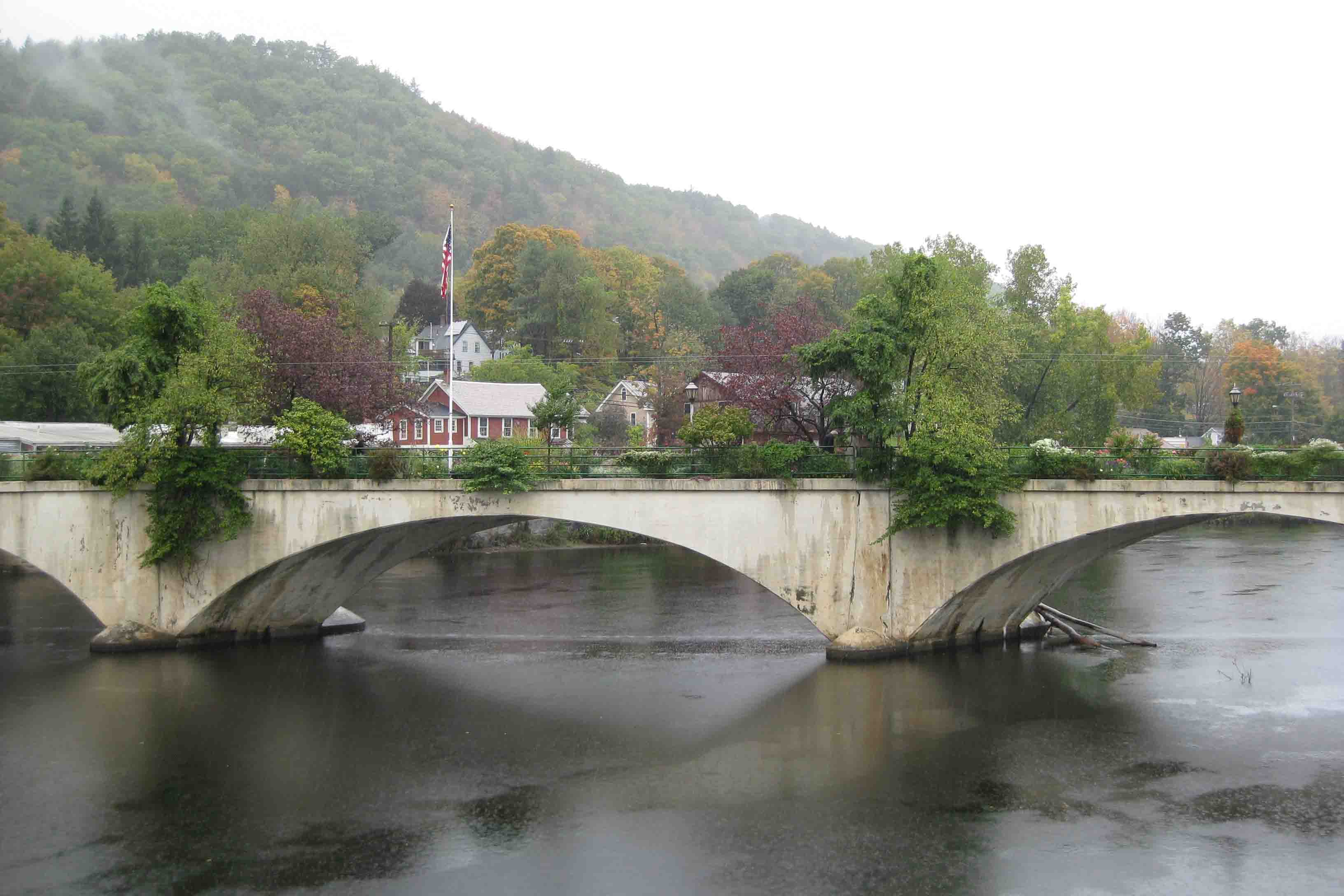 bridge of flowers in Shelburne Falls on the mohawk trail