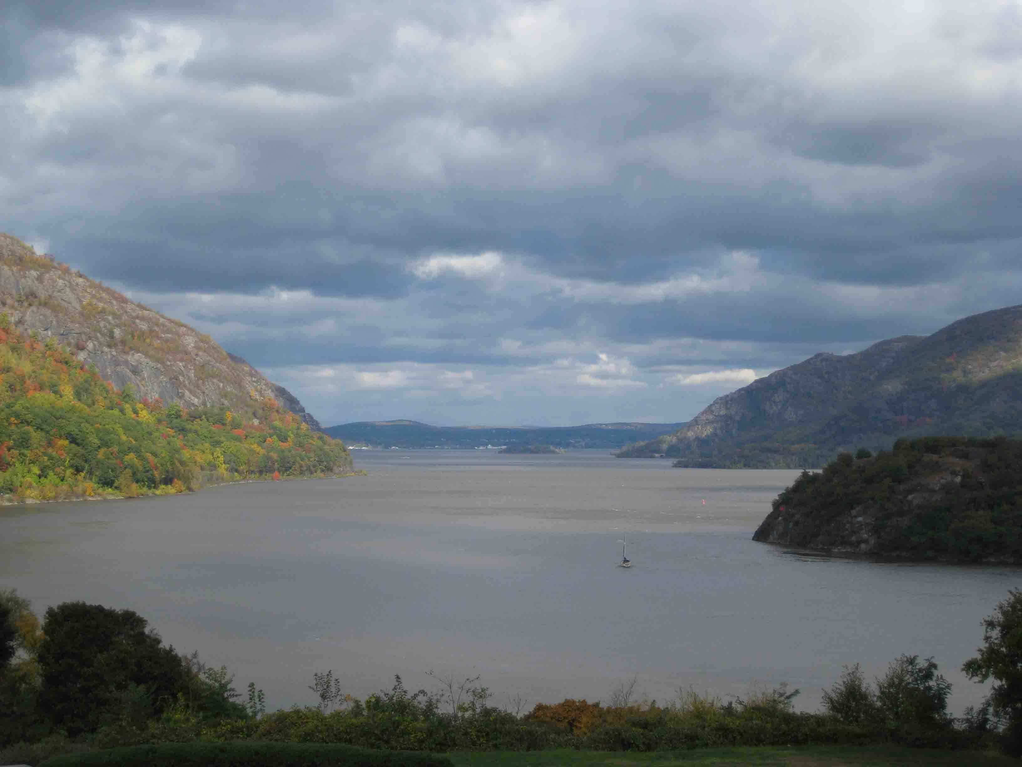 view of the hudson river at west point