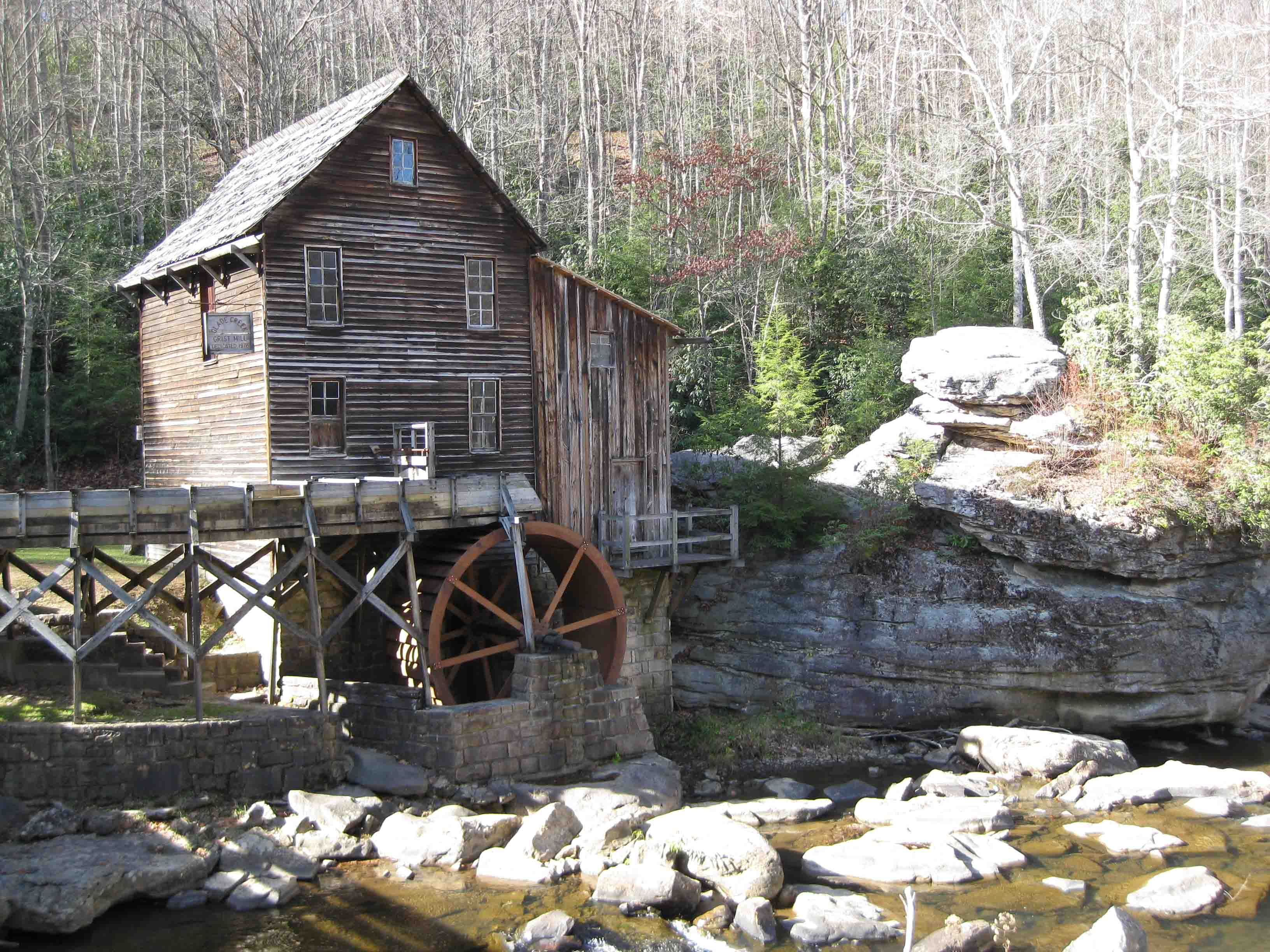 gristmill at babcock state park on the midland trail