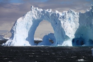 detaille island, south of the circle, antarctica, icebergs