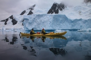 iceberg alley, pleneau island, antarctica, kayaking