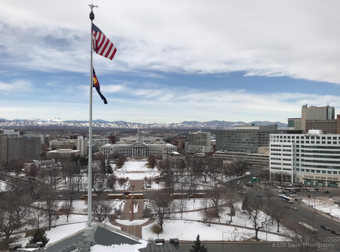 view from the deck at Colorado State Capitol