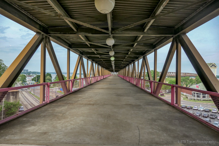 Raised walkway to Mud Island