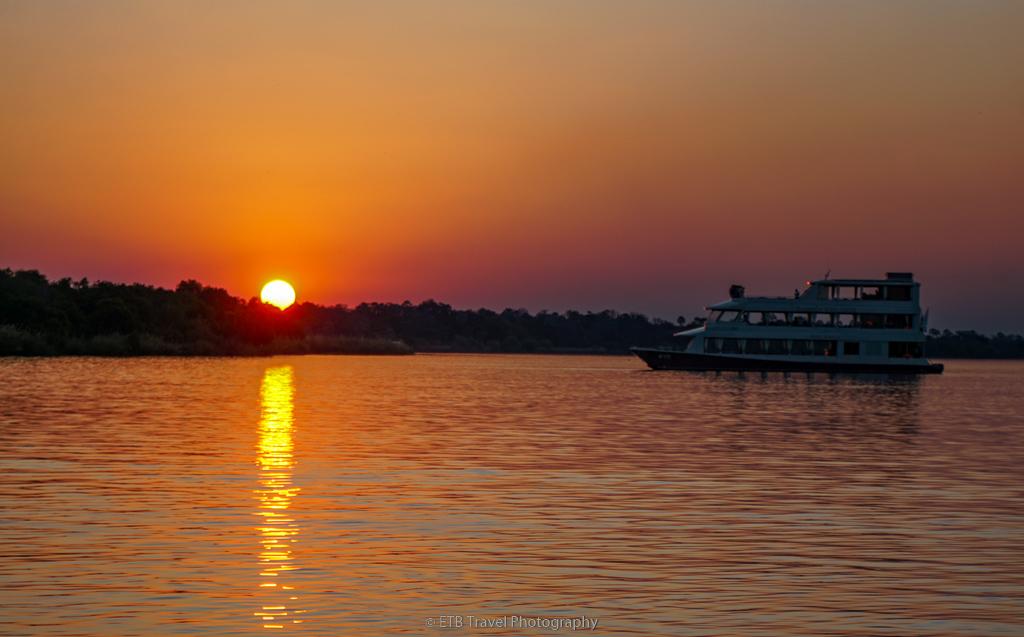sunset cruise on the zambezi